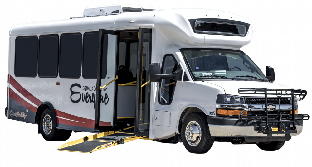 The Spirit of Mobility is built by ARBOC Specialty Vehicles.